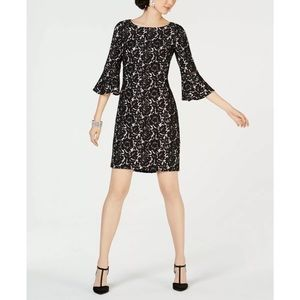 New Jessica Howard black lace bell sleeves dress